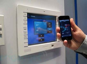 phone interfacing with home system