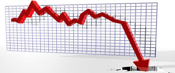 graph point down