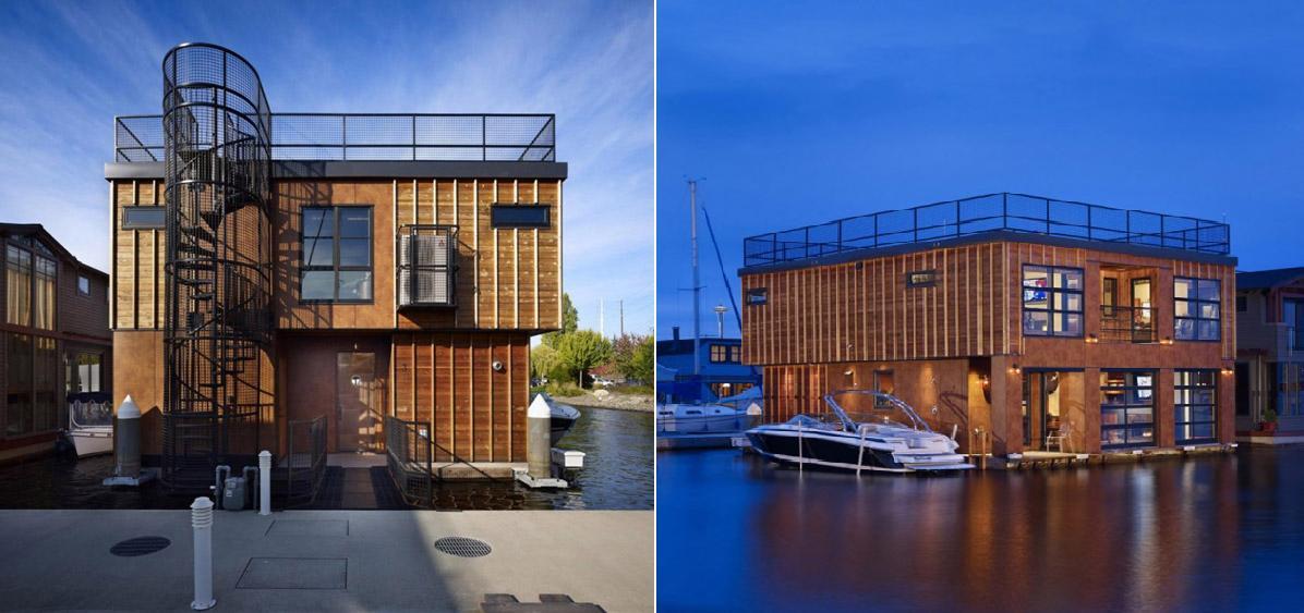 Floating homes for sale real estate celebrity news blog johnhart gazette - Floating house seattle ...