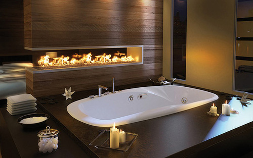 fireplace bath tub
