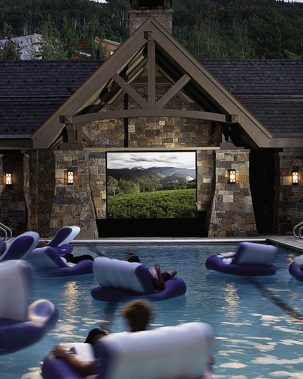 swimming pool movie theater
