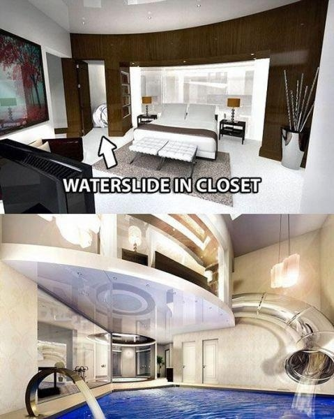 waterslide closet