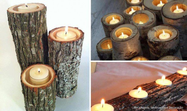 33 creative home diy ideas real estate celebrity news blog wood tea candle holders solutioingenieria Image collections