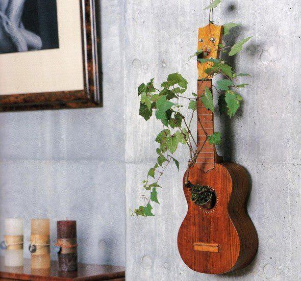 Guitar Flower Pot