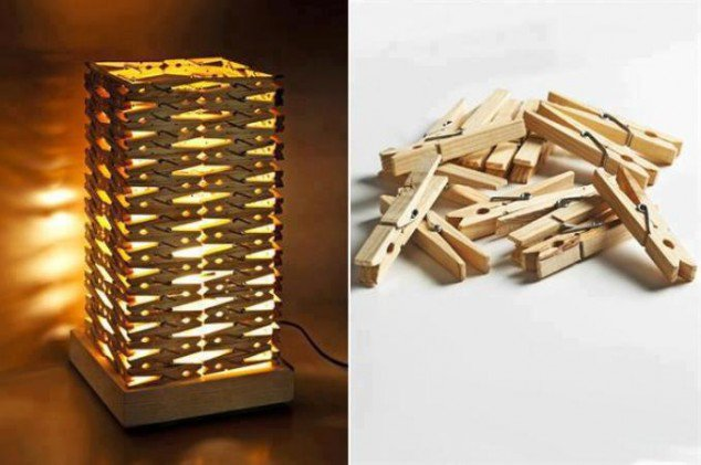 Clothes Pin Lamp or Nightlight