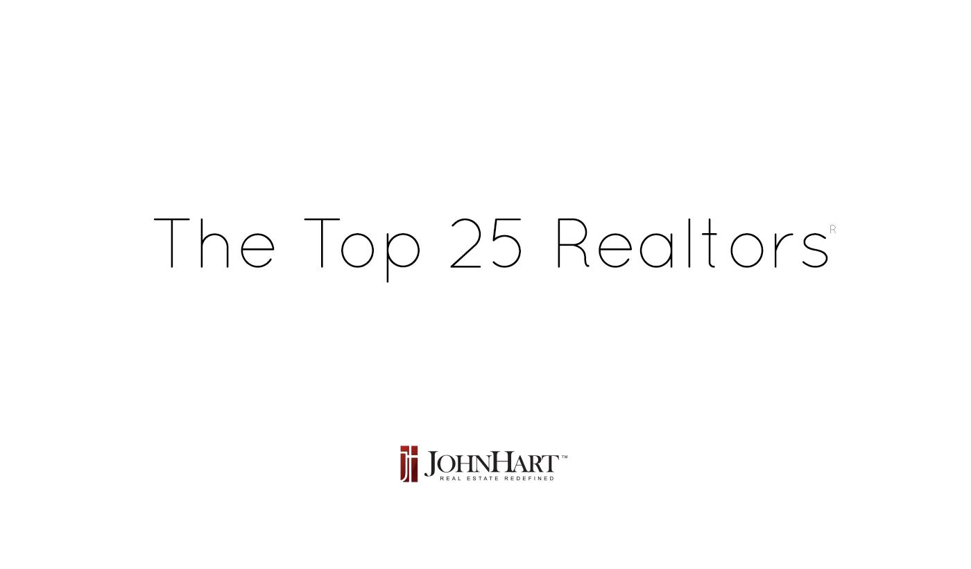 top 25 realtors for 2017
