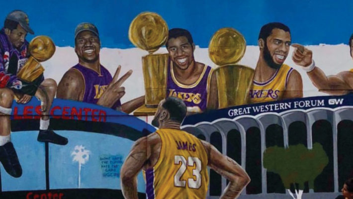 LeBron and Lakers Mural