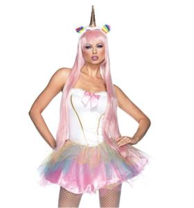 Female unicorn costume for adults, with unicorn headpiece