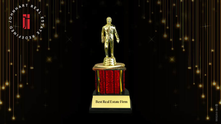 Dundie Trophy with Best Real Estate Firm Text on the Bottom