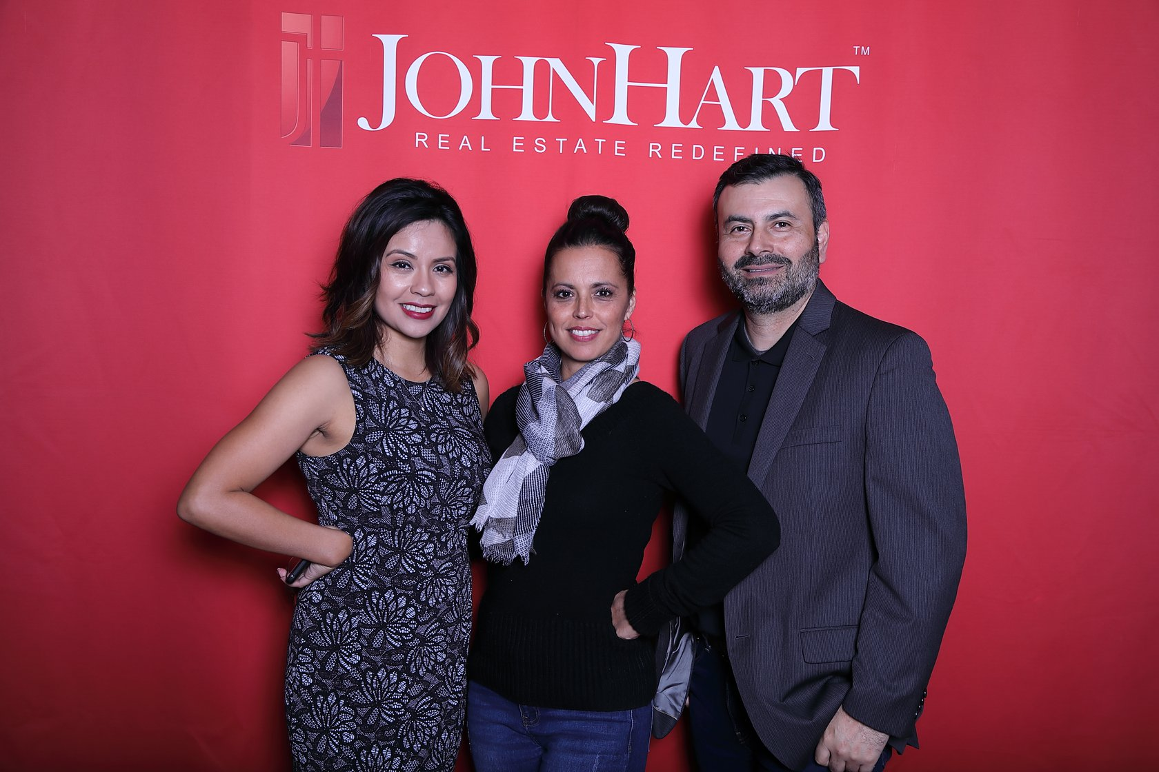 Three JohnHart agents at the Long Beach Office Grand Opening Party
