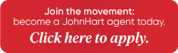 Clickable button encouraging agents to apply to work at JohnHart