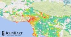 LA home prices heat map
