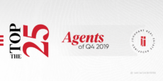 A banner image for the Top 25 Agents of Q4 2019