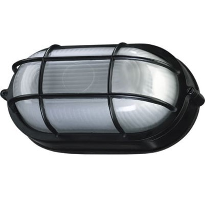 plastic black and clear cylinder light for outdoors