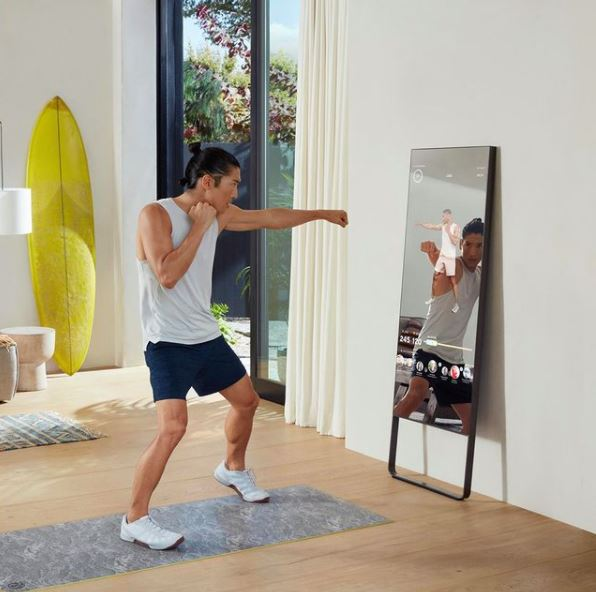 The Mirror is the most portable option, easily carried from room to room, and also boasts the largest variety of workouts of the three at-home gyms.
