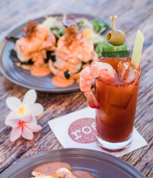 A Bloody Mary is a staple of a great brunch from Roe Xpress, which offers their tasty cocktails to go!