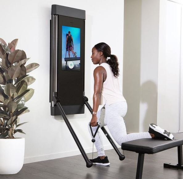Resistance is the name of the game with The Tonal Home Gym, which gives you the opportunity to do great upper and lower body exercises.
