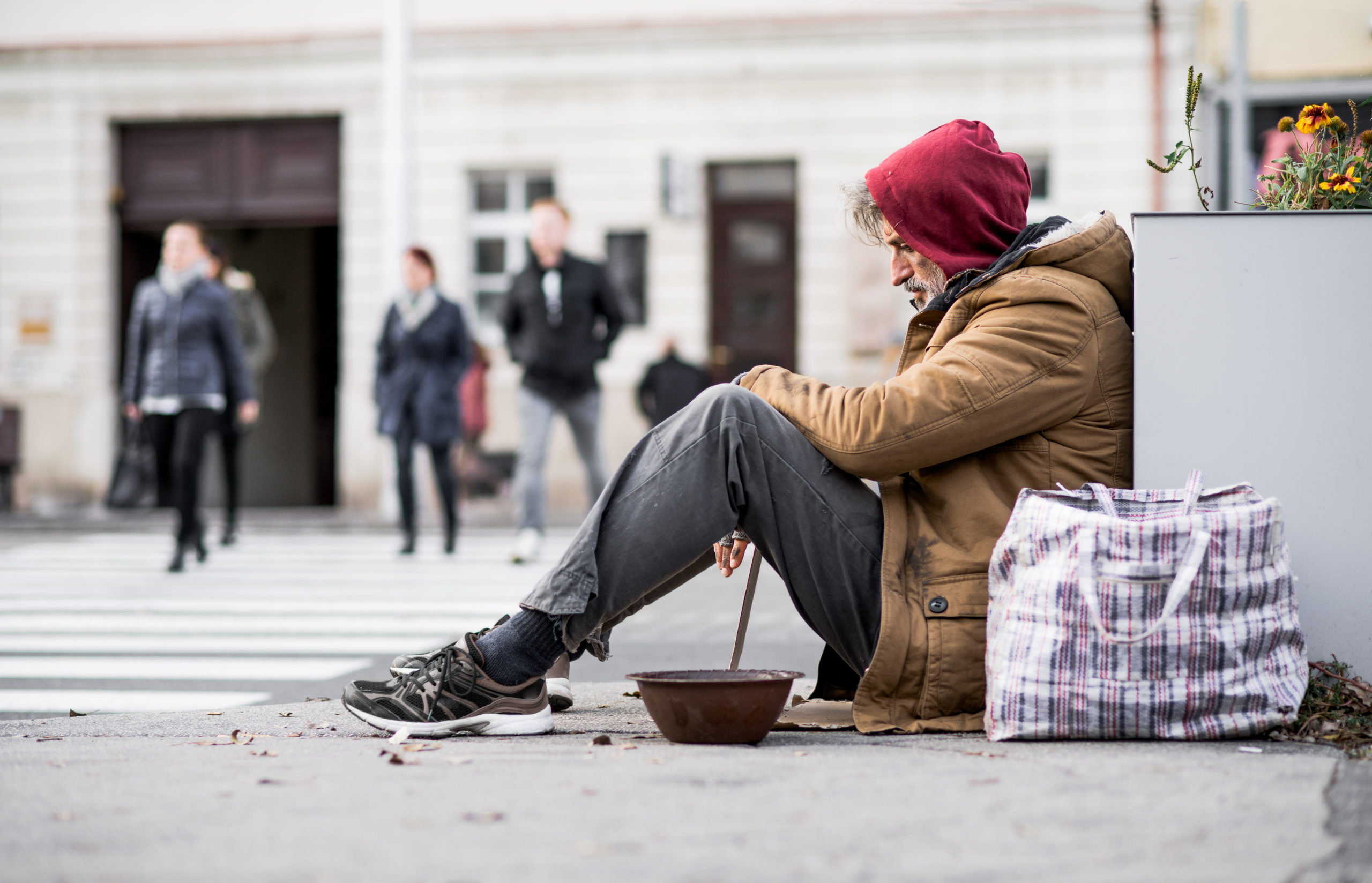 The SDS Supportive Housing fund raised $106 Million to fund permanent supportive housing that can help homeless persons move indoors, like this gentleman who is living on the street.