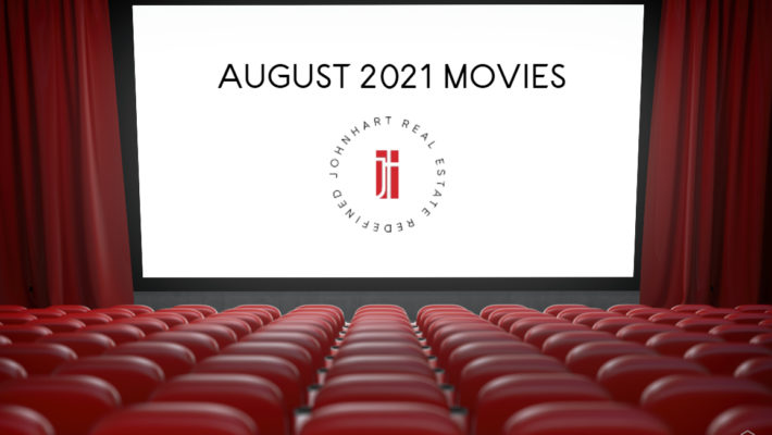 Movies coming out august 2021 to theaters. Empty red movie theater with white screen.