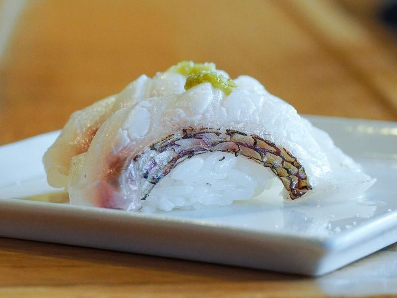 red snapper sushi at Musashi in Palm  Springs