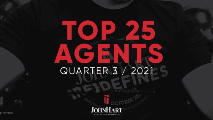 Top 25 Agents of Quarter 3, 2021